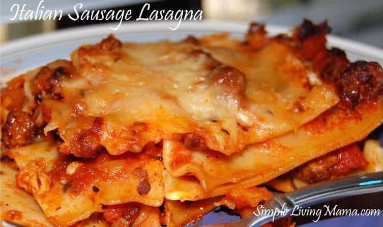 Menu Plan Monday and a Lasagna Recipe