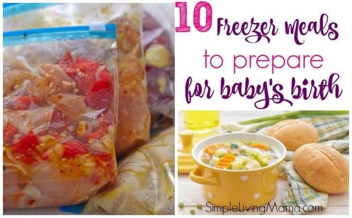 Freezer meals for postpartum