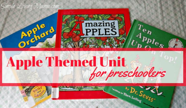 Apple Unit Study for Preschoolers