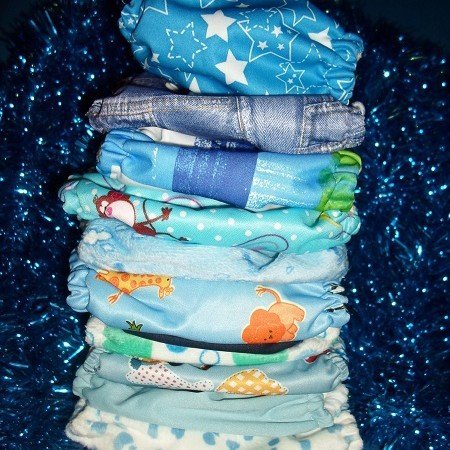 Blue Christmas Cloth Diaper Giveaway