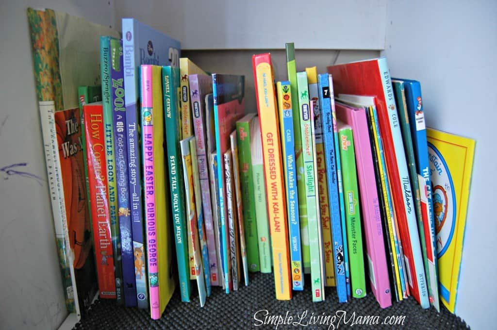 Preschool book shelf