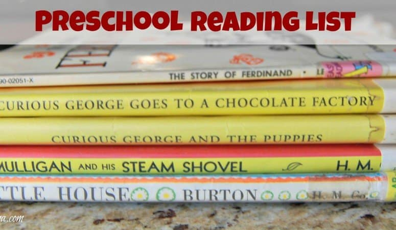 Our Preschool Book List (For 4 Year Olds)