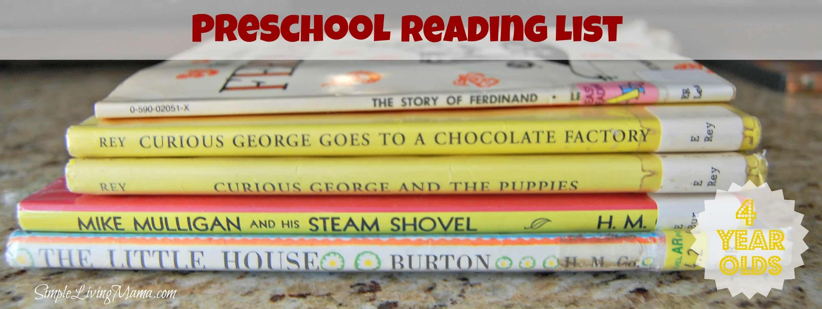 our preschool book list for 4 year olds simple living mama