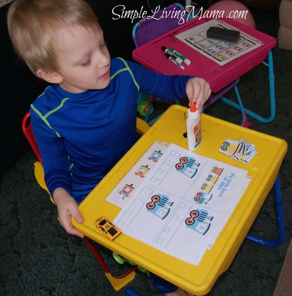 Train themed preschool pack