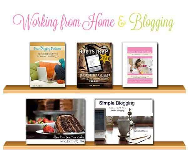 working from home and blogging