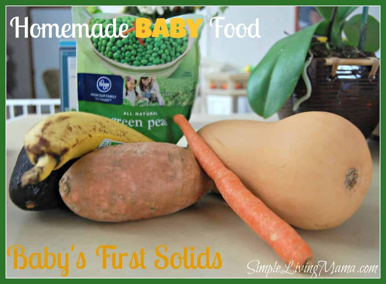 Homemade Baby Food – Baby's First Solids Part 1