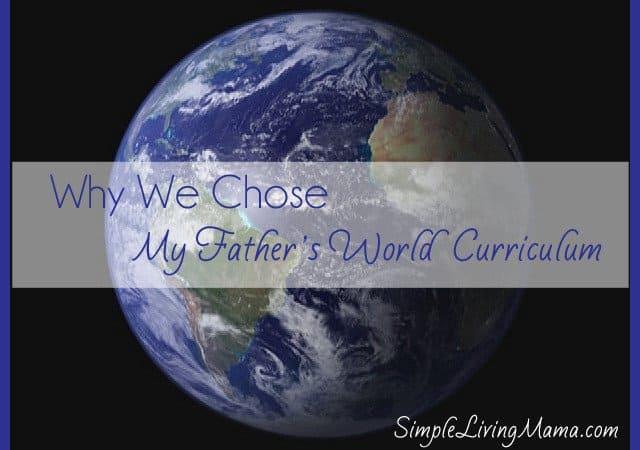 "Why We Are Using ""My Father's World"" Curriculum"