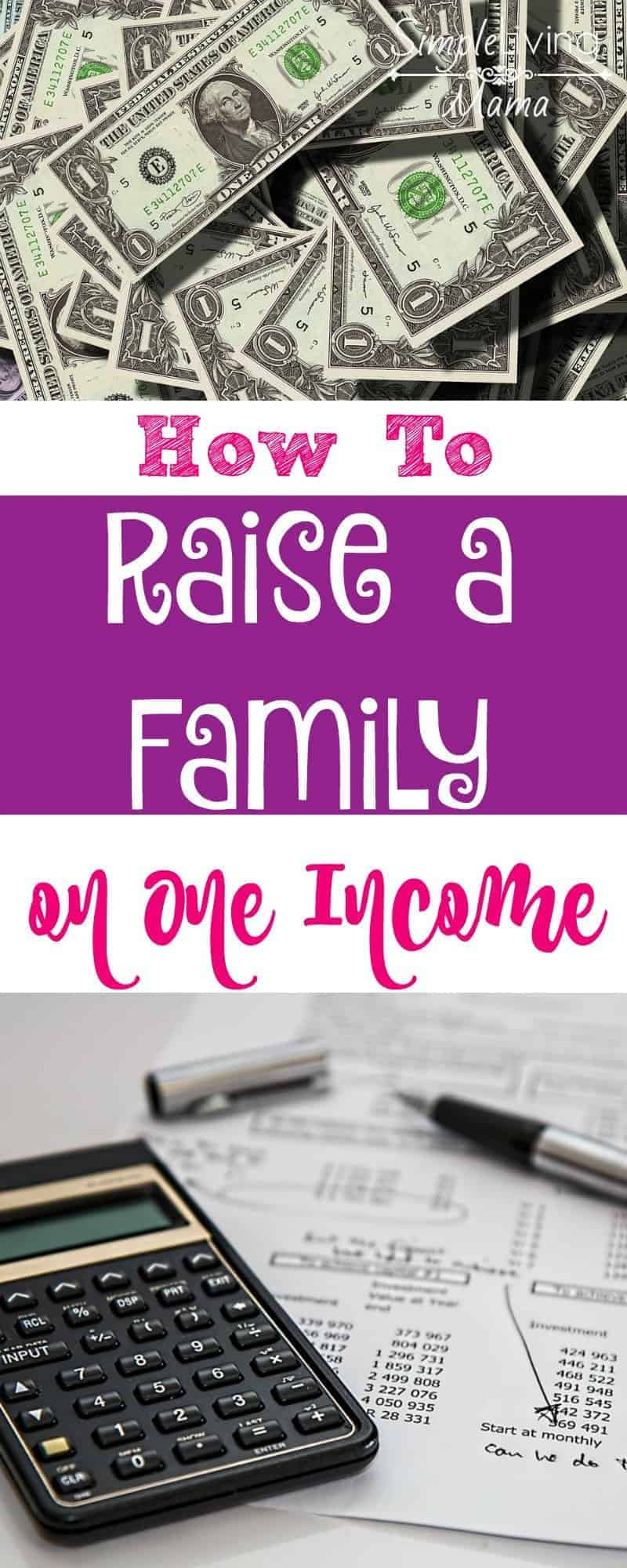 How to raise a family on one income