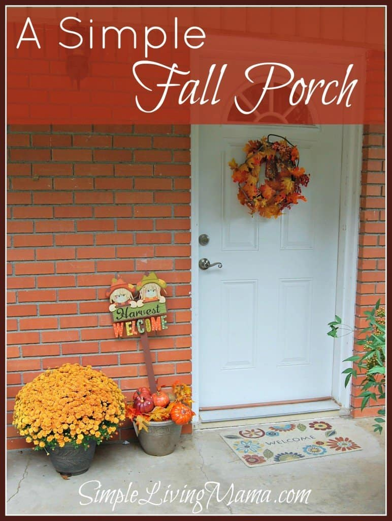 a simple fall porch