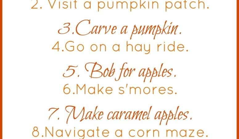 Free Printable Fall Bucket List for Kids + 25 Fall Activities