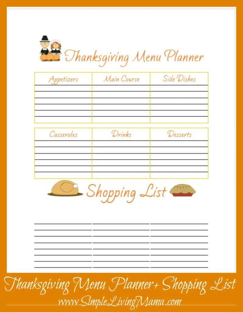picture about Printable Thanksgiving Menu identify Free of charge Printable Thanksgiving Menu Planner - Easy Dwelling Mama