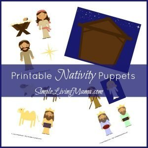 printable nativity puppets
