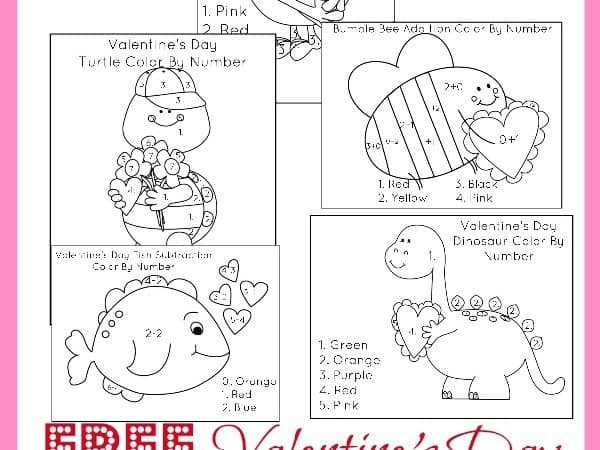 Valentine's Day Activities for Kids + FREE Valentine's Day Color By Number Sheets