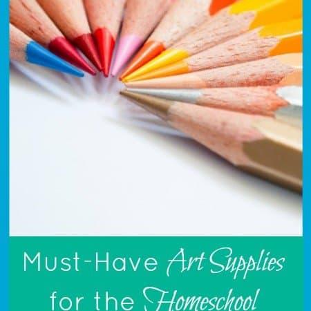 5 Days of Homeschool Essentials: Art Supplies
