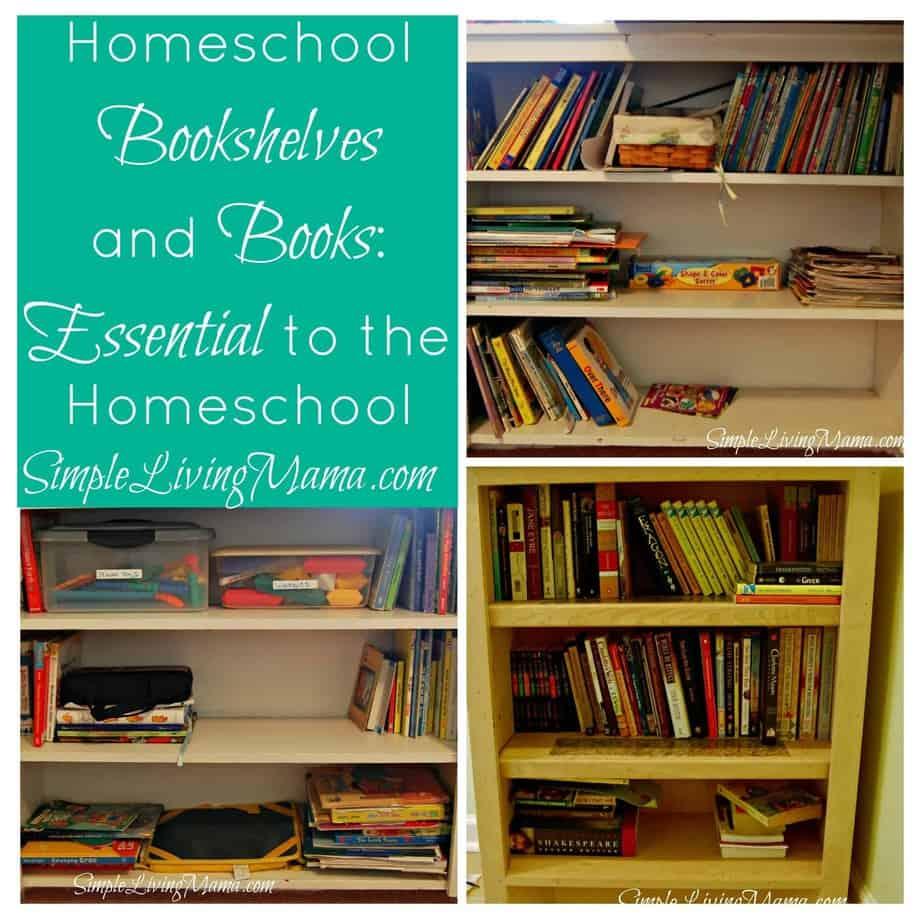 5 Days of Homeschooling Essentials: Homeschool Bookshelves and Books