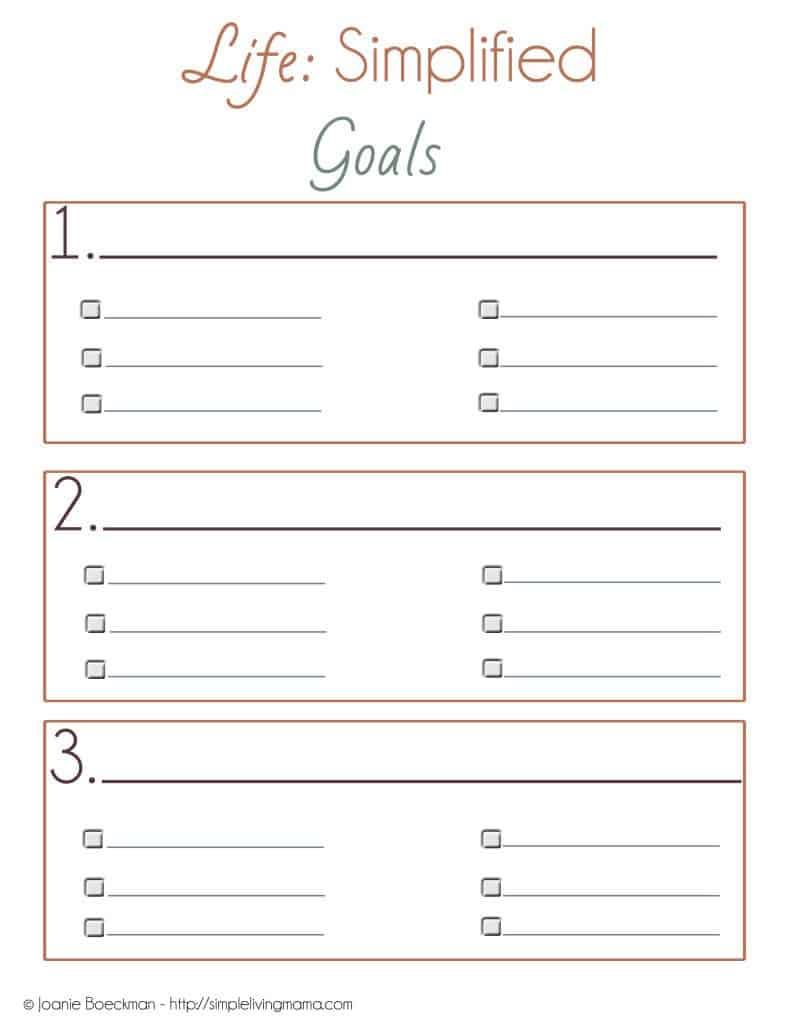 goals copy