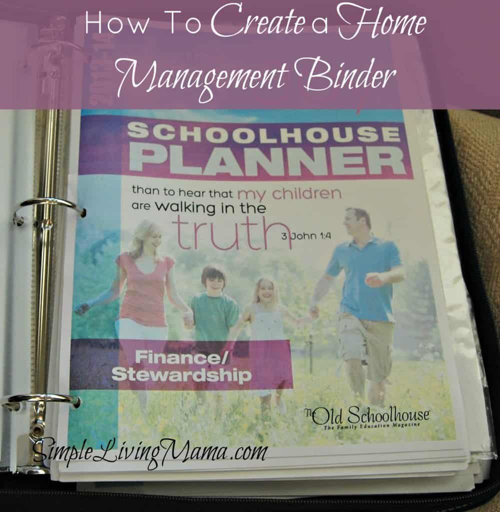 How to create a home management binder.