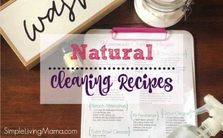 FREE Printable Homemade Cleaners Cheat Sheet – Natural Cleaning Recipes