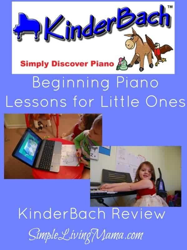 Beginning Piano Lessons or Little Ones - KinderBach Review