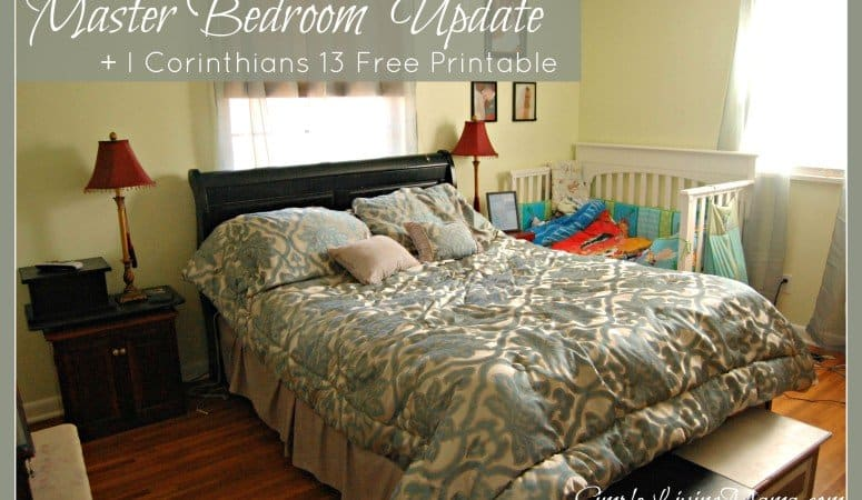 Master Bedroom Update + I Corinthians 13 Printable – Life: Simplified