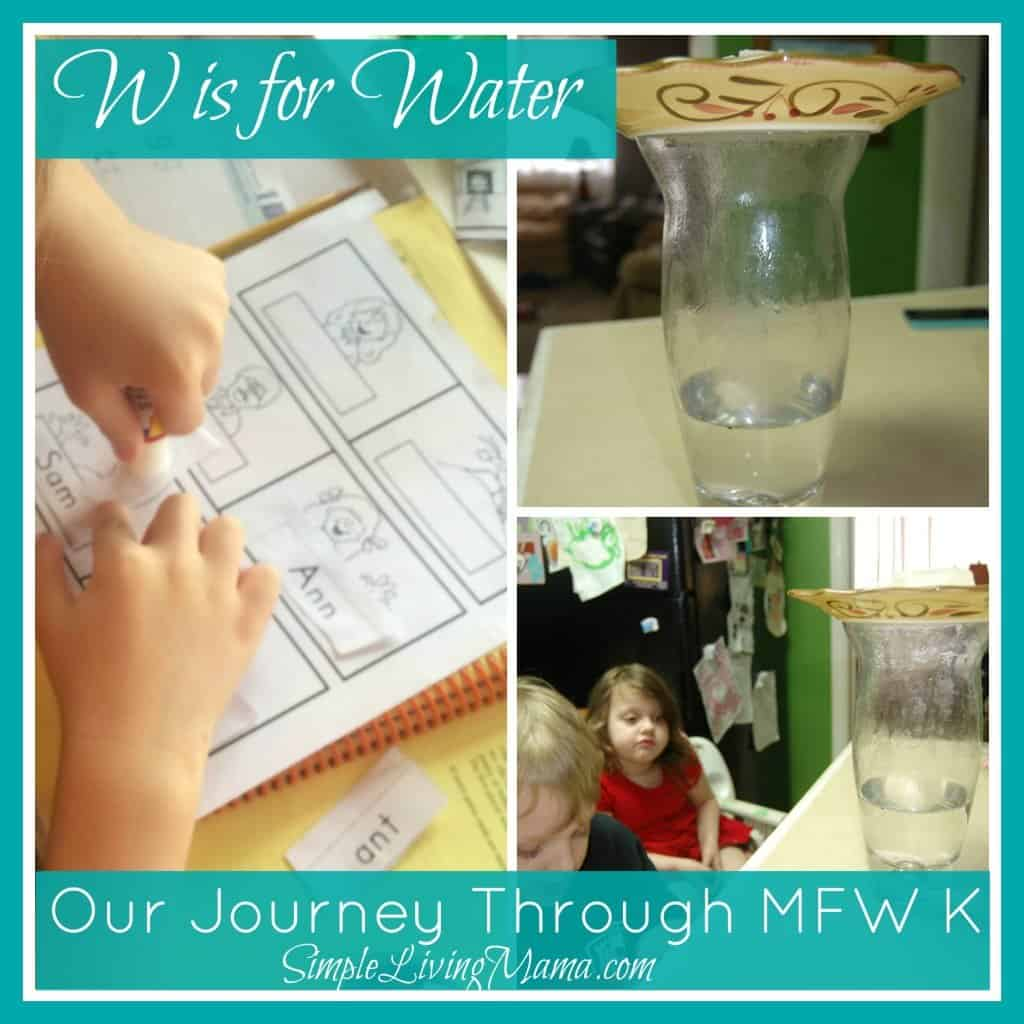 W is for Water - My Father's World Kindergarten