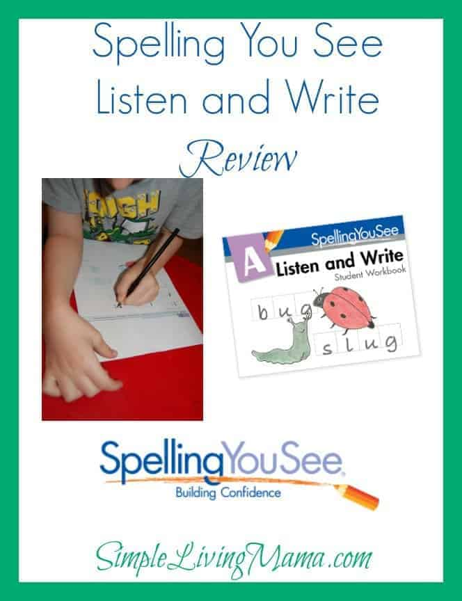 Spelling You See Listen and Write - Review