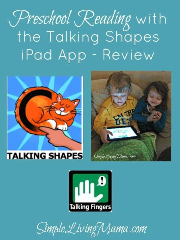 Preschool Reading with the Talking Shapes iPad App – Review
