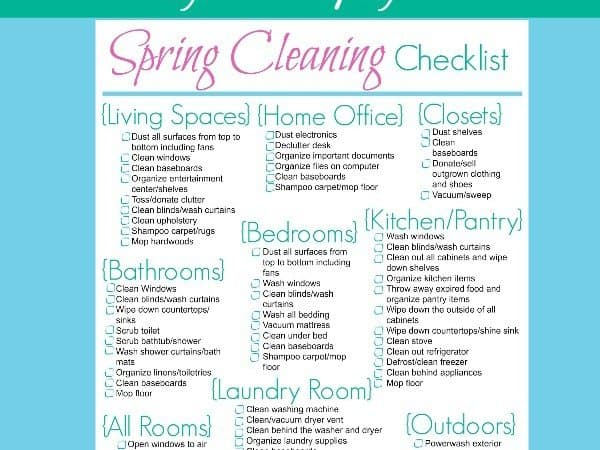 Spring Cleaning Checklist – Life: Simplified
