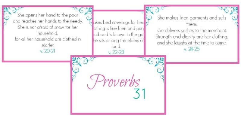 Printable Proverbs 31 Scripture Cards - Simple Living Mama