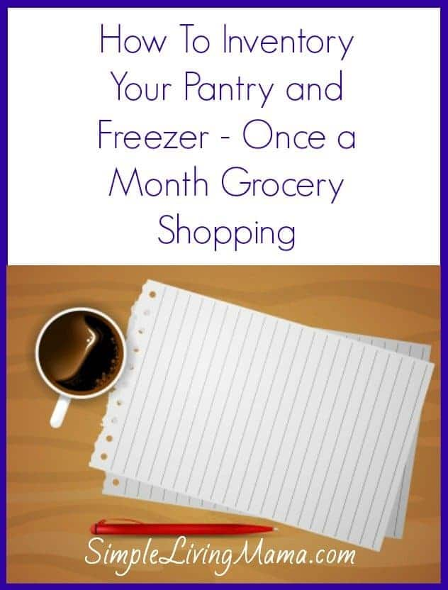 how to inventory your pantry