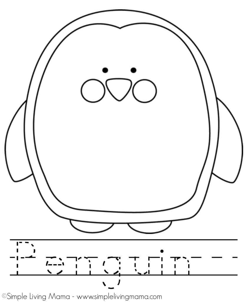 penguin coloring sheet