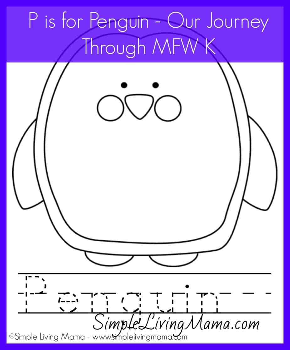 P is for Penguin – Plus a Printable Penguin Coloring Sheet
