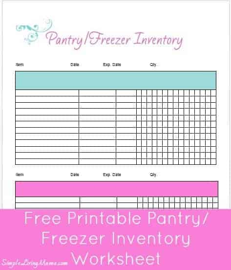 picture about Freezer Inventory Printable titled How Towards Stock Your Pantry and Freezer - When a Thirty day period