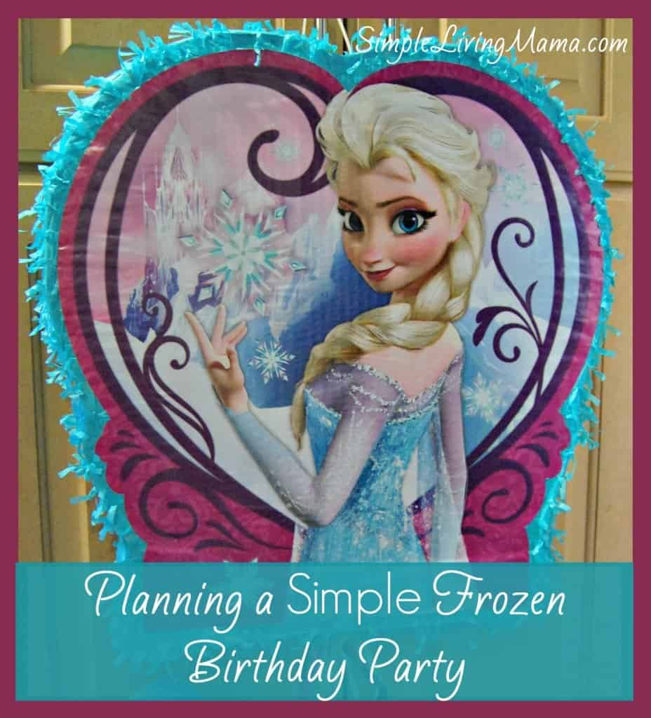 planning a simple frozen birthday party
