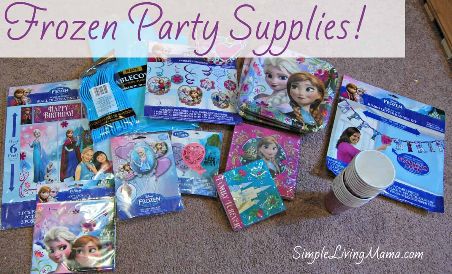 Planning a Simple Frozen Birthday Party Simple Living Mama