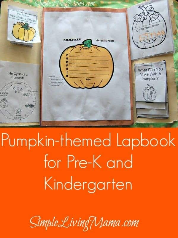 Pumpkin Themed Lapbook