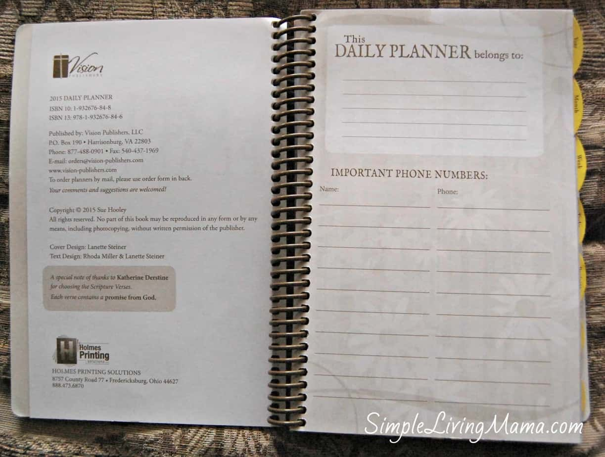 daily planner 2015