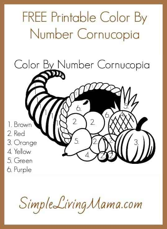 Color By Number Cornucopia