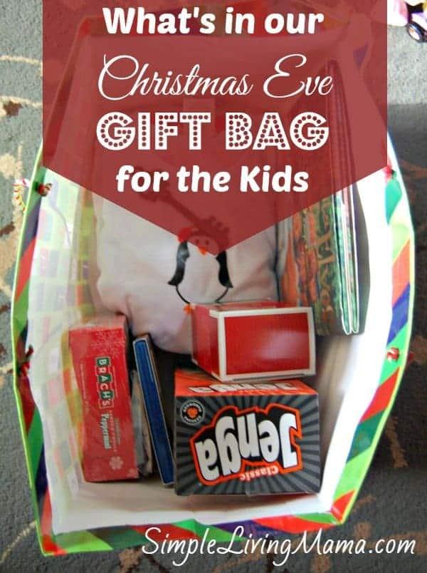 Wondrous Christmas Eve Gift Tradition Gift Bag For Kids Simple Living Mama Easy Diy Christmas Decorations Tissureus