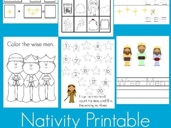 Nativity Printable Pack K-2nd Grade