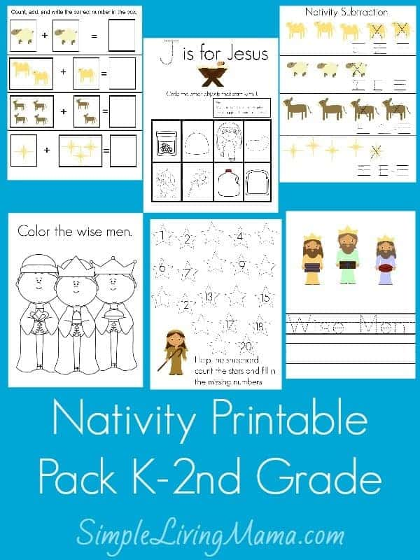 Nativity Printable Pack K-2nd Grade | simplelivingmama.com