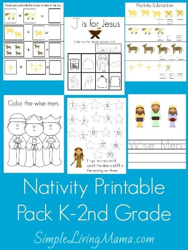 Nativity Printable Pack K-2nd Grade
