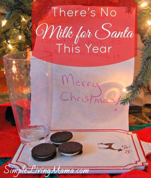 Why there's no milk for Santa this year...