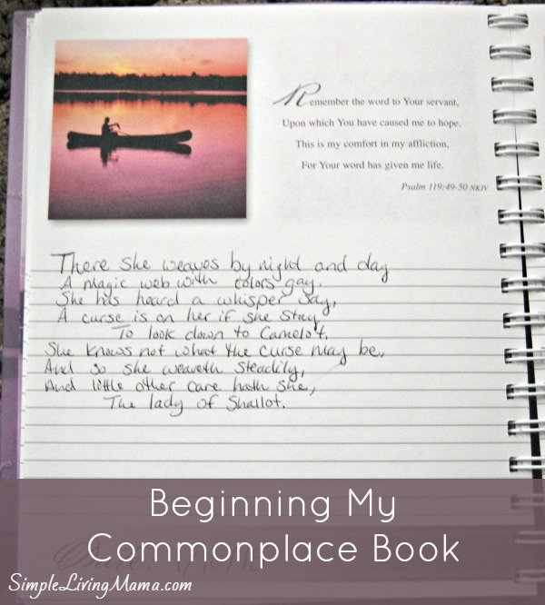 Keeping Company – Beginning my Commonplace Book