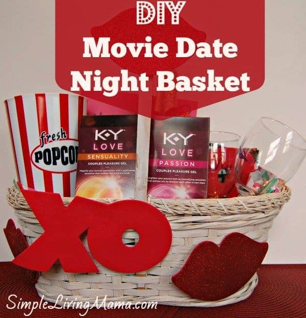 Diy Movie Date Night Basket For Your Valentine Simple