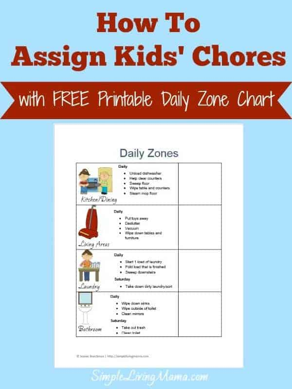 How To Assign Kids' Chores
