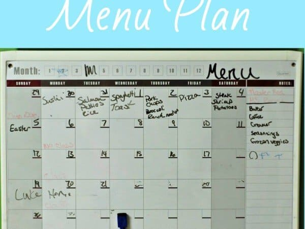 My Monthly Meal Plan – May