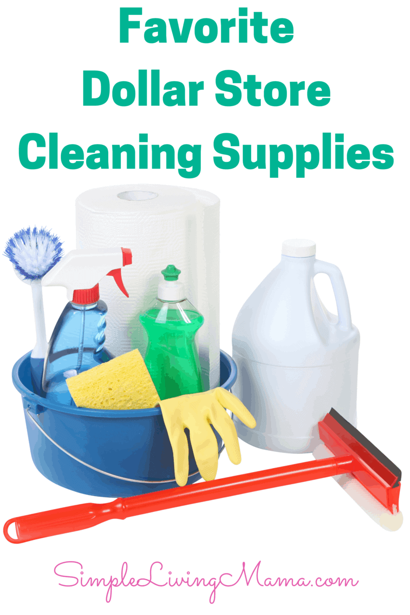 Favorite Dollar Store Cleaning Supplies - What To Buy