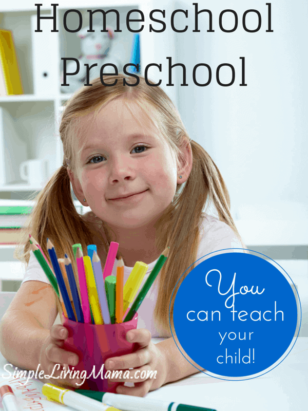 Lots and lots of homeschool preschool resources! Teach preschool at home!