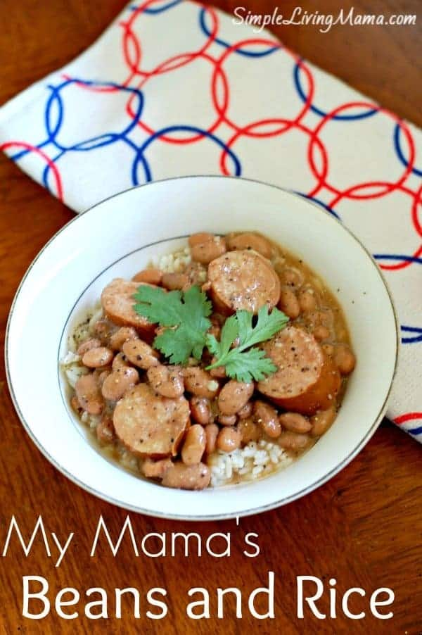 My mama's beans and rice